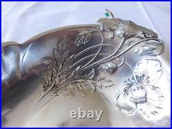 Christofle Gallia corbeille métal argenté décor de pavots art nouveau 1900/1937