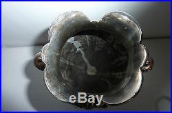 Christofle Gallia vase métal argenté modèle art nouveau