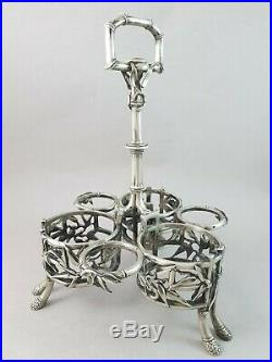 Christofle Huilier vinaigrier en argent massif Art Nouveau Minerve