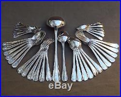 Christofle Modele Boreal Menagere 38 Pieces En Metal Argente Annees 1950