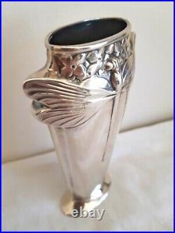 @@@ Christofle Vase Libellule Dragonfly Art Nouveau Metal Argente Tbe @@@