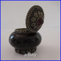Coffret Bijoux Argent Rubis Porcelaine Orient Art Nouveau Art-deco