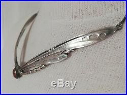 Collier Art Nouveau en argent, décors de libellules