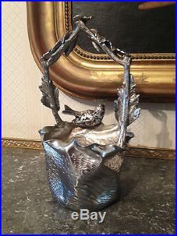 Corbeille Art Nouveau, métal argenté, début XX°