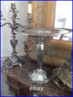 Coupe Art Déco en Métal Argenté Gallia Christofle Sue et Mare circa 1930