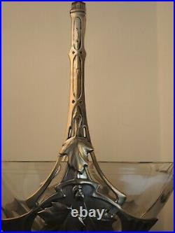 Coupe Art Nouveau En Métal Argenté Et Verre Paris