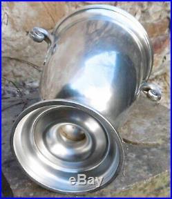 Coupe Haute ou Elégant Vase Médicis Art Deco GALLIA Métal Argenté