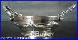 Coupe de mariage Art Nouveau BARBEDIENNE en bronze argenté Aux épis de blé