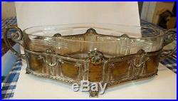 Coupe metal argente et cristal art nouveau. Souvenir du casino d'illzach. 1908