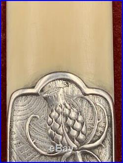 Coupe papier argent Art Nouveau par Charles Murat c. 1900 silver letter opener