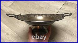 Coupe sur pied en métal argenté WMF Art-Nouveau plate Jugendstil Secessionist