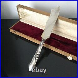 Couteau de Service Art Nouveau 1900 Prise Argent 800 Mugnier Genève Jugendstil