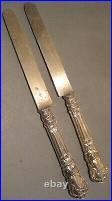 Couteaux dessert argent minerve art nouveau