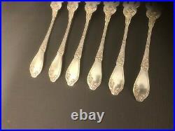 Couverts à poisson ART NOUVEAU métal argenté BOULENGER modèle CHARDONS ménagère