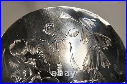 Cuillere A Service Argent Massif Art Nouveau Antique Solid Silver Serving Spoon