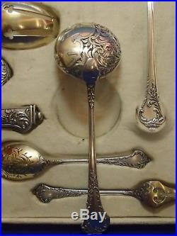 Debain Couverts Service 14 Pieces Argent Et Vermeil Minerve Art Nouveau Iris