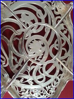 Dessous De Plat Art Nouveau Cailar Bayar Au Chardon Decor Floral Métal Argenté
