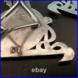Deux très beaux porte-menus métal argenté WMF I/0 OX Art Nouveau