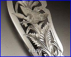 Doutre Roussel Couvert De Service A Poisson Argent Et Metal Argente Vers 1900
