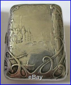 ETUI à CIGARETTES ARGENT MASSIF ART NOUVEAU 1900 signé L. BLANCHOT 80gr