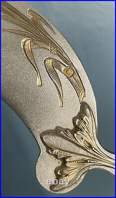 Emile Puiforcat Art Nouveau Service A Glace Argent Massif Or Modele Iris Silver