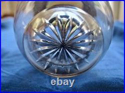 Encrier art nouveau mimosa argent vermeil cristal GRUAT L 1903