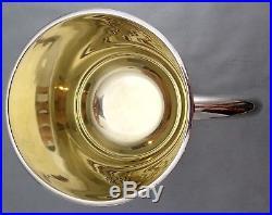 Enorme Tasse / Mug / Chope Argent Massif & Vermeil Italien Art Nouveau Sterling