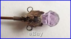 Épingle à chapeau chardon Écosse argent et améthyste Vers 1900 pin ART NOUVEAU