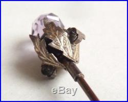 Épingle chapeau chardon Écosse argent améthyste Vers 1900 silver pin ART NOUVEAU