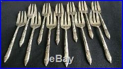 Ercuis 12 couverts /fourchettes à Huîtres en métal argenté