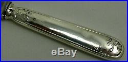 Ercuis modèle au Gui, Art Nouveau, 10 couteaux de table, métal argenté