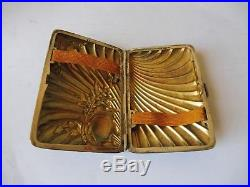 Etui A Cigarette En Argent 800 Lutz&weiss- Art Nouveau