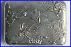 Étui à cigarettes argent Charles MURAT Art nouveau (53944)