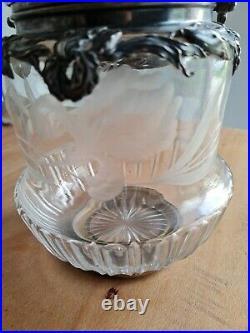 Exceptionnel Seau A Biscuit Art Nouveau Argent Minerve Et Baccarat iris
