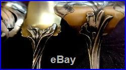 Exceptionnel, rare, 4 couverts à mignardise en argent massif vermeil, ART NOUVEAU
