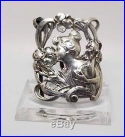 Exceptionnelle boucle ceinture argent massif Art nouveau Signée DROPSY MO Savard