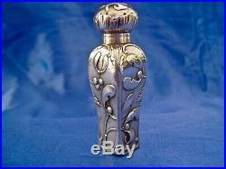 Flacon à parfum châtelaine art nouveau gui argent double sanglier Murat 1897