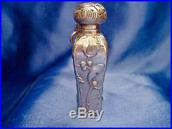 Flacon à parfum châtelaine art nouveau gui argent sanglier Charles Murat 1897