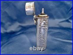 Flacon parfum sel art nouveau Dropsy argent Quitte Prudent 1882