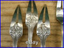 Fourchettes à Escargot Art Nouveau en Argent Plaqué Ercuis Silver Silber