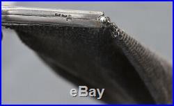 GRAND Sac aumônière ART NOUVEAU en argent massif (french silver handbag)
