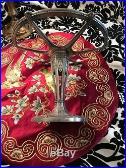 Gallia Christofle / Coupe Centre De Table Art Nouveau Metal Argente 1900