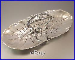 Gallia Christofle Plat Service Coupe Art Nouveau En Metal Argente Vers 1900