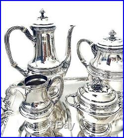 Gallia Christofle Rare Service À Café En Métal Argenté Art Nouveau 1900