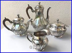 Gallia Christofle, service à thé café en métal argenté Art Nouveau vers 1900