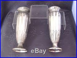 Gallia Epoque Art Nouveau Paire De Vase En Metal Argente
