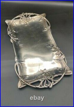 Gallia Plateau art nouveau Gallia et christofle métal argenté
