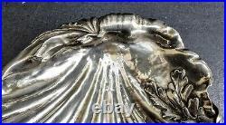Gaube Du Gers/souche Lapparra Lourde Coupe Coquille Metal Argente Art Nouveau