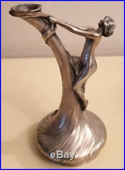 Georges Marie Valentin Bareau Rare bronze argenté art nouveau