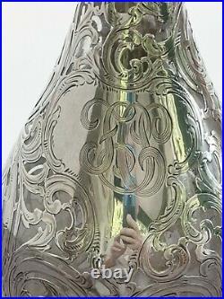 Gorham Argent Massif Art Nouveau Splendide Carafe Vers 1900 999/000